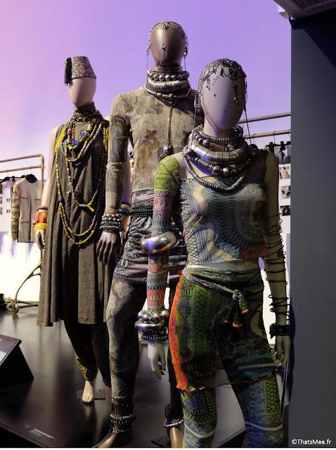 inspiration ethnique Inde prêt-à-porter Jean-Paul Gaultier Laetitia Casta, expo JPG Grand Palais Paris