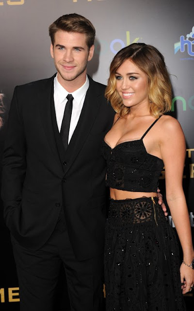 Miley Cyrus and Liam Hemsworth 2012