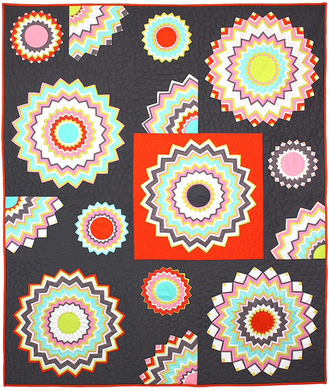 http://www.michaelmillerfabrics.com/inspiration/freequiltpatterns/chevron-kaleidoscope.html