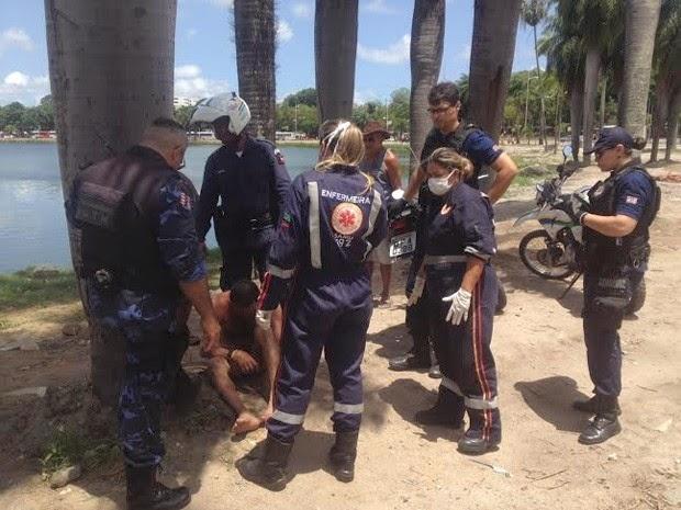 Guarda Municipal salva homem quando se afogava na Lagoa de João Pessoa