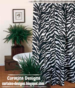 Shabby chic Black and white shower Curtain designs, ideas, models ...