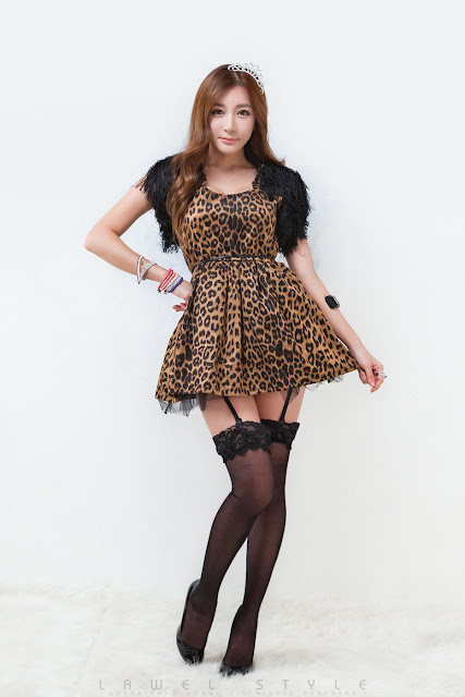 4 Leopard girl - Han Ji Eun-Very cute asian girl - girlcute4u.blogspot.com