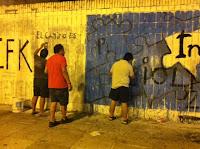 Arreglo del mural de Integra por La Cámpora Vicente López