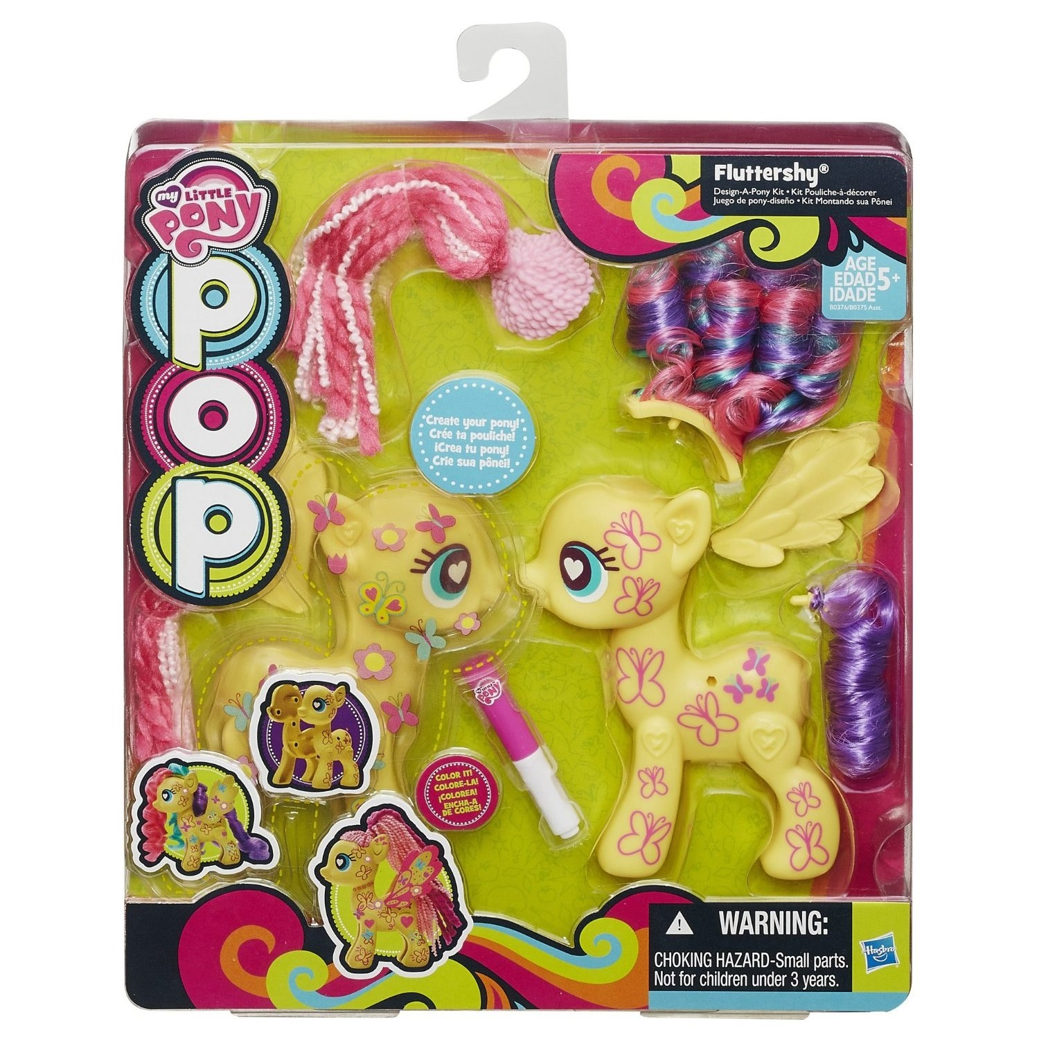 MLP POP Fluttershy Design-A-Pony Kit