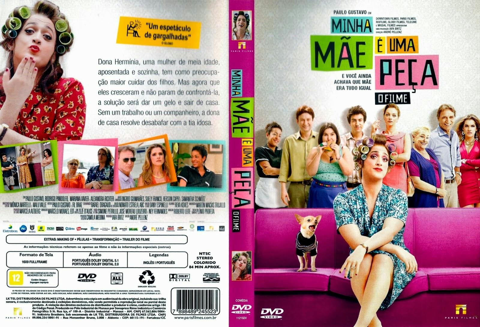 Filme Minha Mãe É Uma Peça DVD Capa