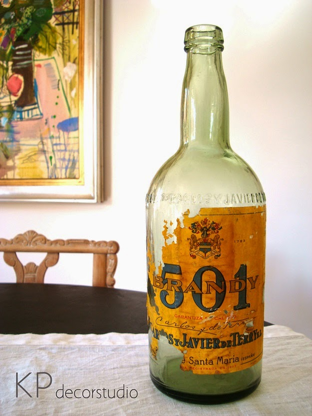 Botellas de cristal antiguas
