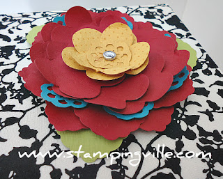 Flower Embellishment for Stampin' Card Keeper
