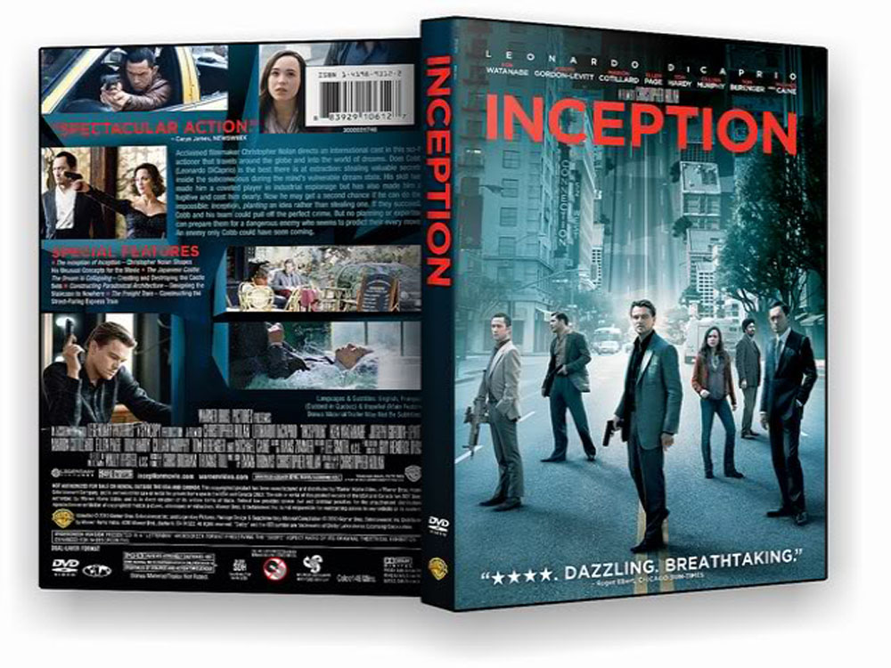 Inception Blu-ray Dvd Case