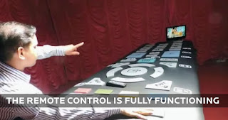 This 15 Foot Thing Is The World's Biggest TV Remote Control (Pictures, Video)