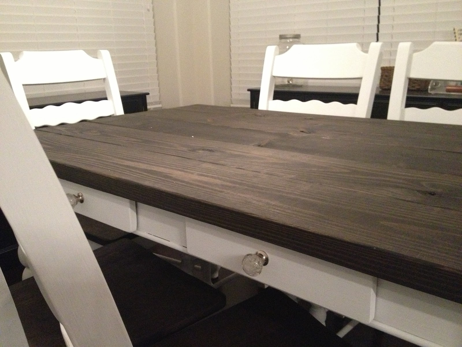 dark wood table top after dark wood table top