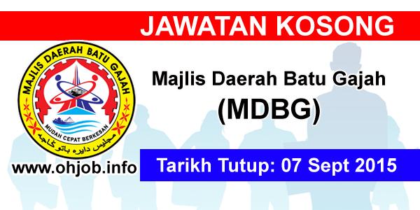 Jawatan Kerja Kosong Majlis Daerah Batu Gajah (MDBG) logo www.ohjob.info september 2015