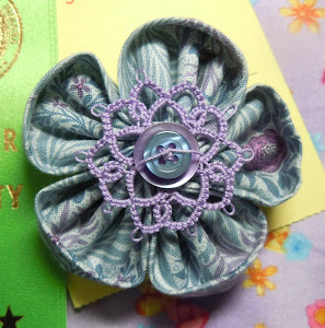 Beginning Tatting + Kanzashi Flowers