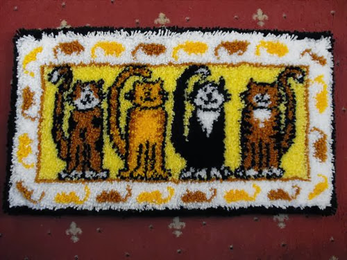 cats latch hook rug