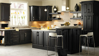 Black Kitchen Cabinets With Stainless Steel Appliances: Black Kitchen Cabinets With Stainless ...