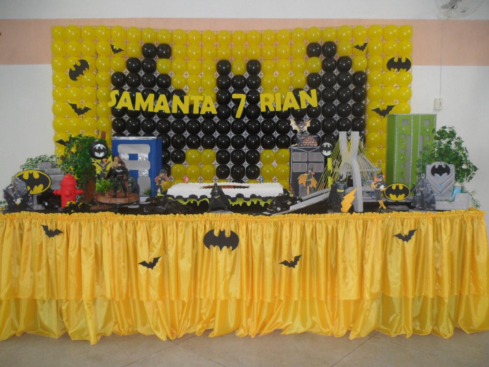decoracao festa batman:Pipokinha Festas: Decoração Festa Infantil : Batman e Batgirl
