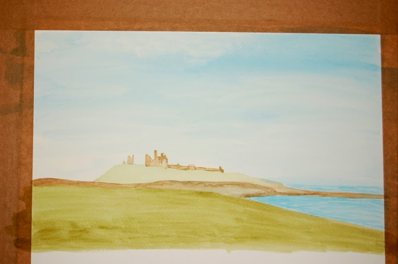 Dunstanburgh Castle watercolour
