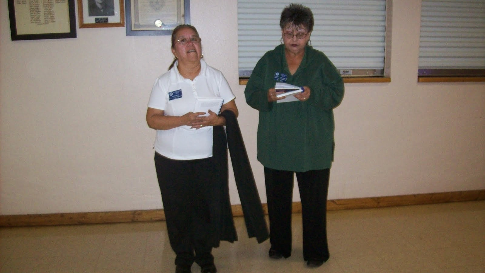 Auxiliary Members Vicki Ovalle and Joann Reyes Tapia