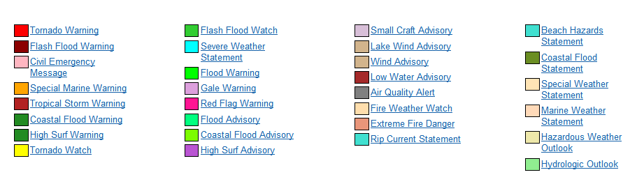 weather alert symbols