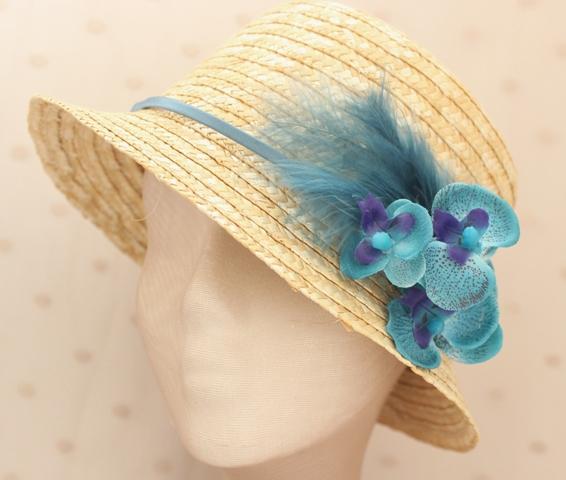Colección Orquídea - Canotier Orquídea azul