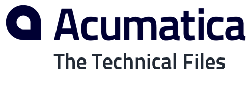 The Acumatica Technical Files