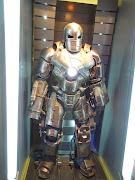 Iron Man Mark I suit from Iron Man 3 on display (iron man marki suit)