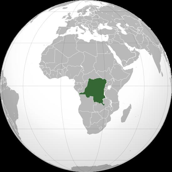 Globo Terráqueo República Democrática del Congo