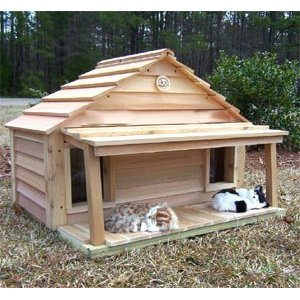 Outdoor Cedar Cat House - Make Fun Your Pet Cat