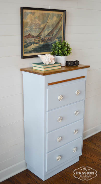 My Passion For Decor: Beach Inspired Cabinet Using Nautica Paint