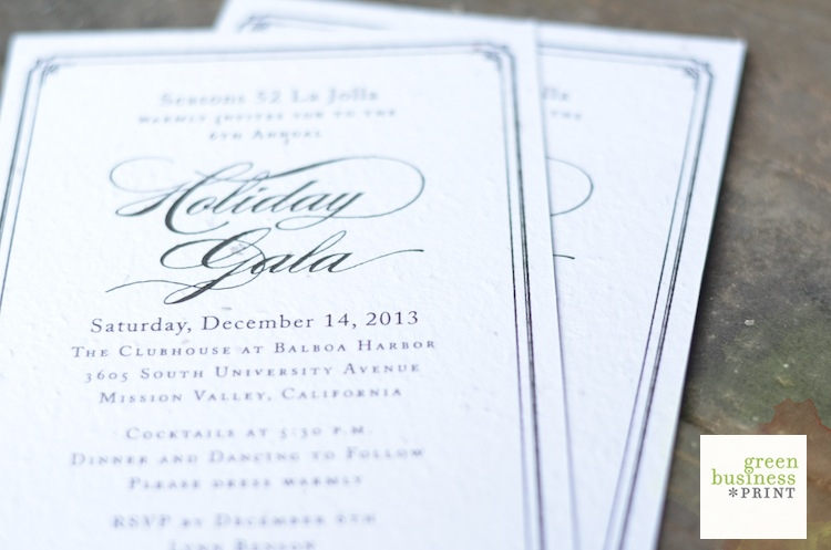 Unique gala invitation