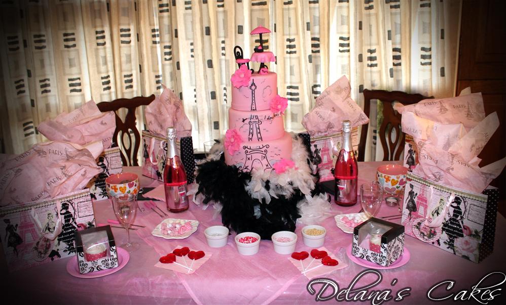 delana 39 s cakes paris themed party