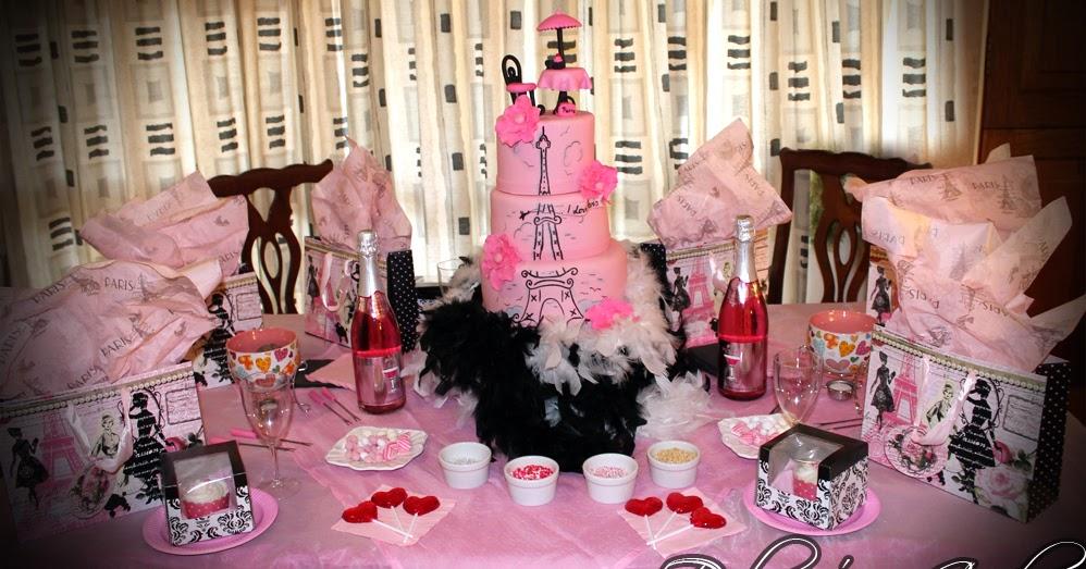 Delana S Cakes Paris Themed Party