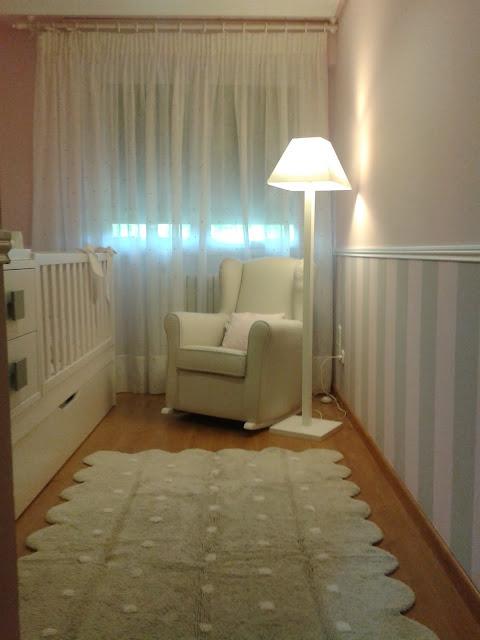 Rideau Chambre Gris Et Rose : Décoration la Chambre de bébé, la peinture murale avec notre petit