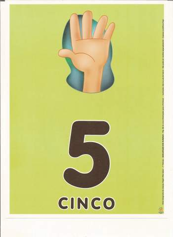 Cartazes de Numerais | Número cinco