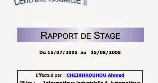 insat   rapport de stage  u00e0 la soci u00e9t u00e9 tunisienne d