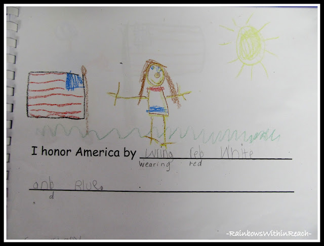 photo of: Kindergarten President's Day Writing Project via RainbowsWithinReach