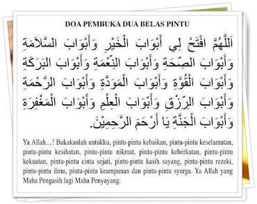 Doa Untuk Dibukakan Pintu Rezeki