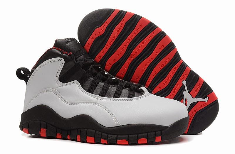 red and black jordans 10