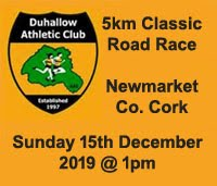 5k in NW Cork - Sun 15th Dec 2019