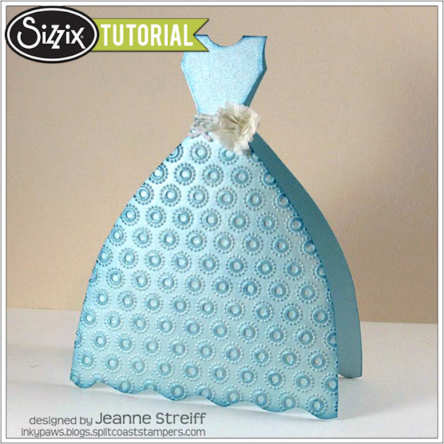 Sizzix Die Cutting Tutorial: Little Blue Dress Card by Jeanne Streiff