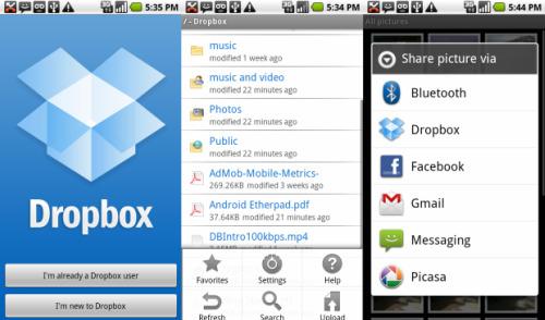 iPhone Dropbox App