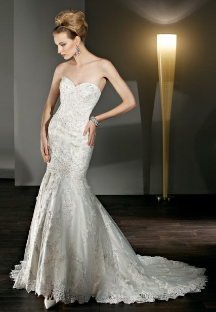 Lace Sweetheart Mermaid 2 in 1 Wedding Dress with Luxuriant Beaded Lace Appliques
