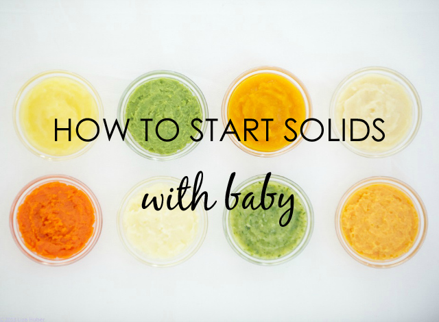 how to make solid food for 4 month baby