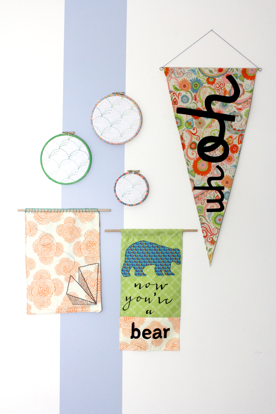 make a pennant flag craft