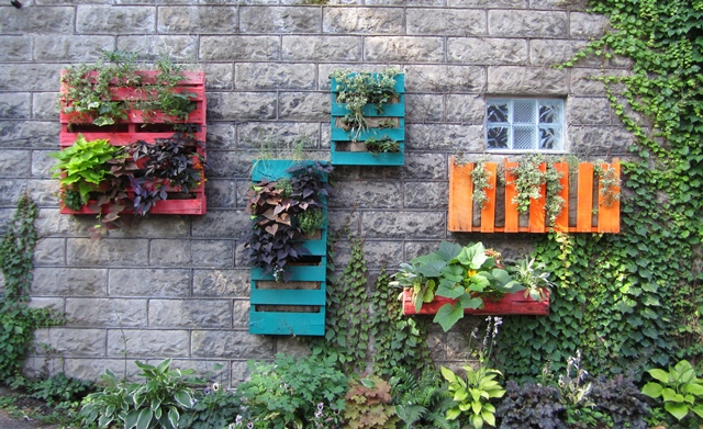 Creative ways to use pallets outdoors in your garden for Gardening using pallets