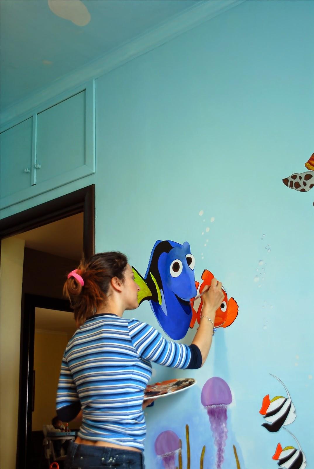 Francesca decorazioni decorazione cameretta da nemo a spiderman e supereroi - Decorazioni muri camerette bambini ...