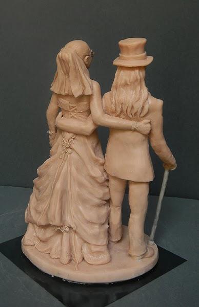 sposi gotici torta regalo di matrimonio action figure personalizzate orme magiche