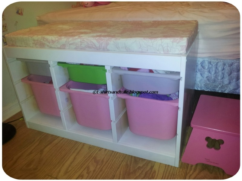t shirts and tulle trofast ikea hack. Black Bedroom Furniture Sets. Home Design Ideas