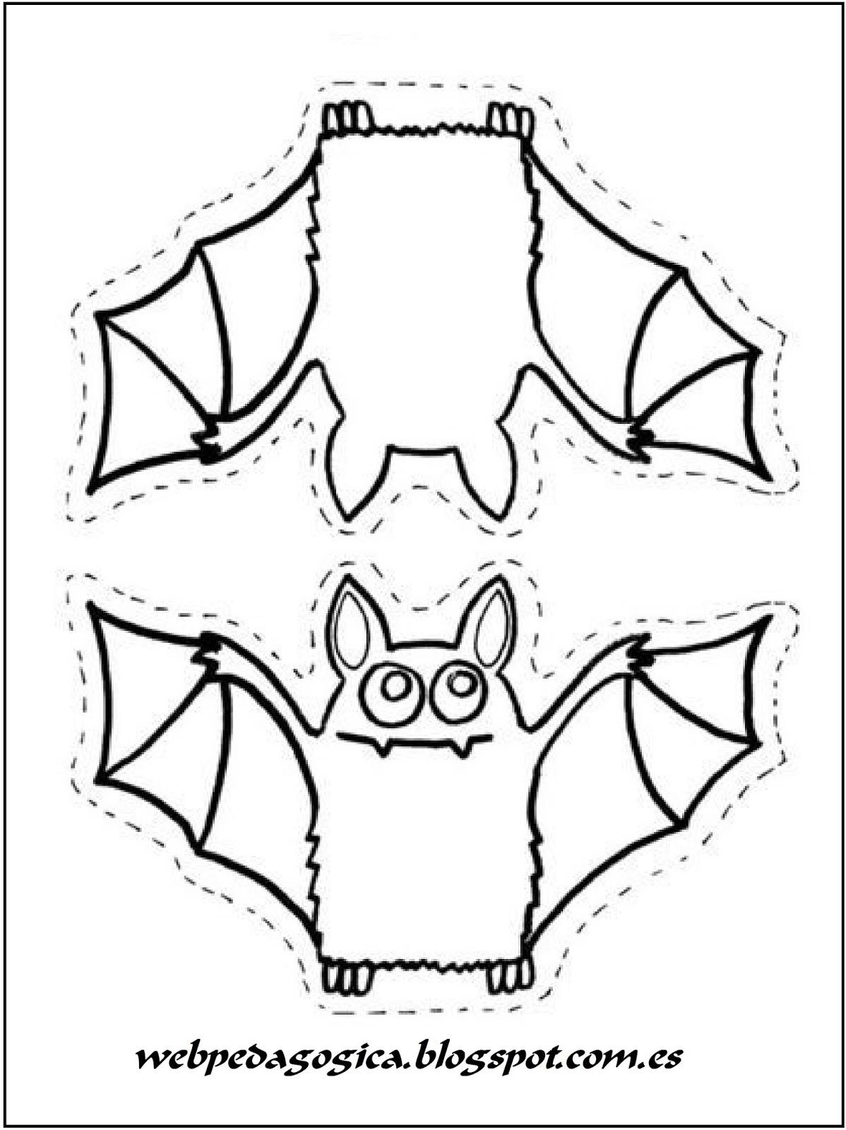 Lujoso Lindo Murciélago De Halloween Para Colorear Composición ...