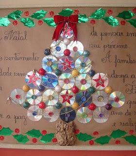 Espa o educar 13 rvores de natal feitas com reciclagem - Material para pintar paredes ...