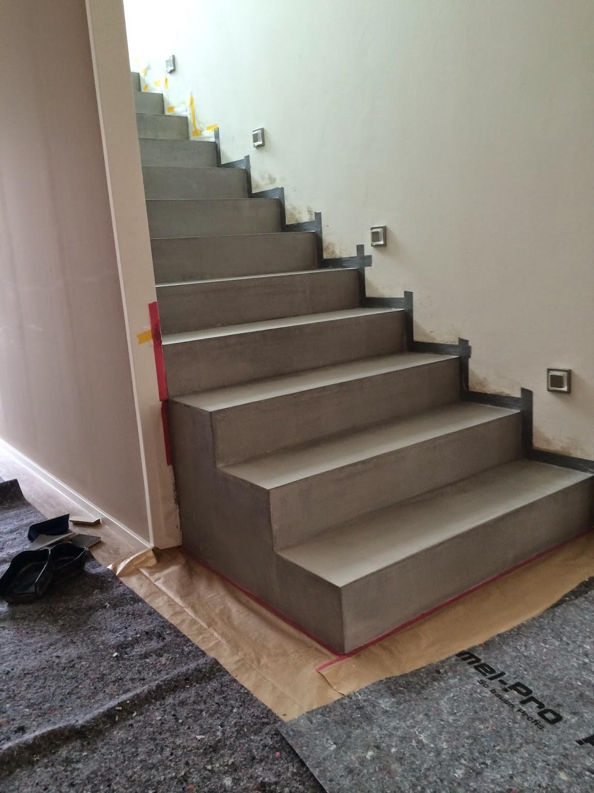 beton cire oberfl chen in beton look betontreppen beschichtung mit besserbauen beton cire. Black Bedroom Furniture Sets. Home Design Ideas